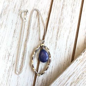 Purple Jade Pendant Necklace